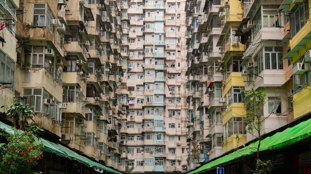 Tai Koo Shing featuring a city