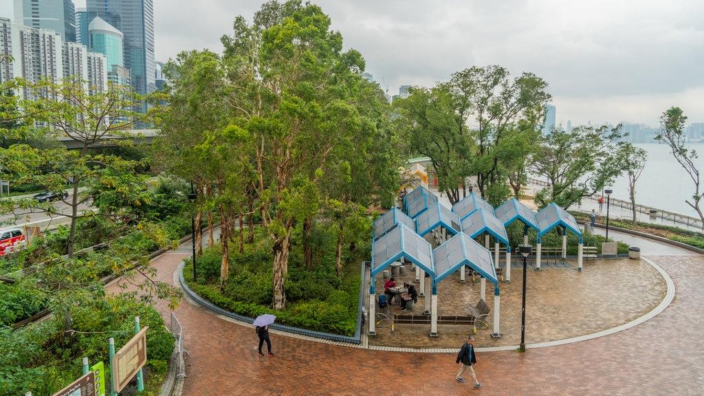 The Grand Promenade showing a garden