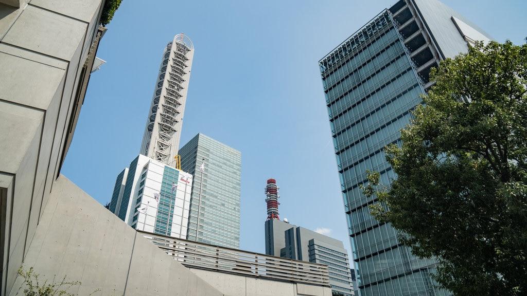 Saitama Super Arena which includes a city and a skyscraper