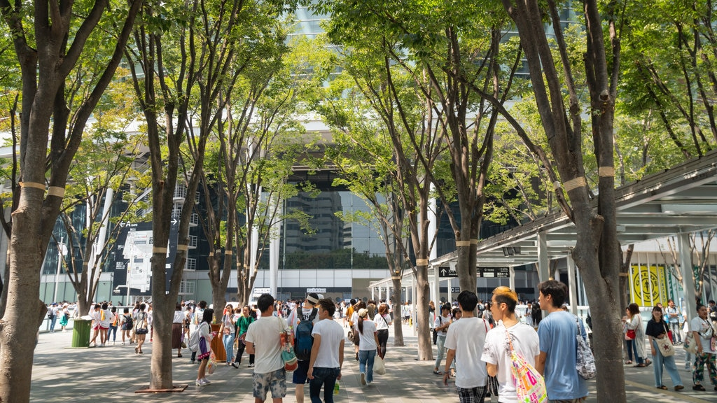 Keyaki Hiroba showing street scenes