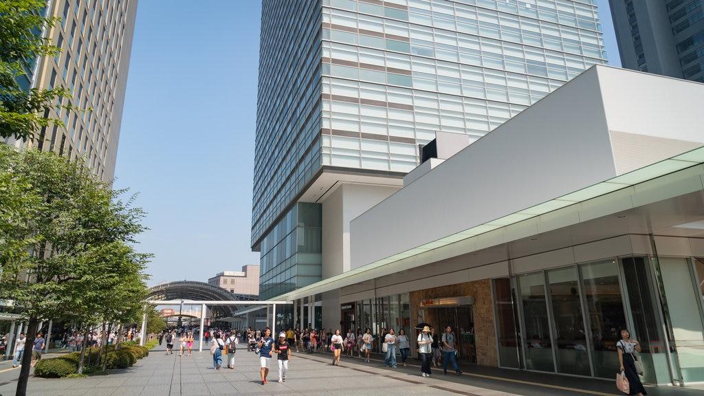 Keyaki Hiroba featuring street scenes and a city