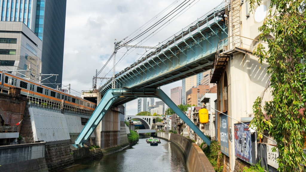 Chiyoda which includes a city and a river or creek