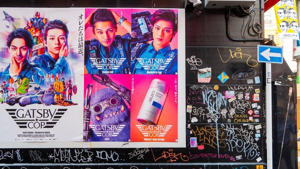 Shibuya featuring signage