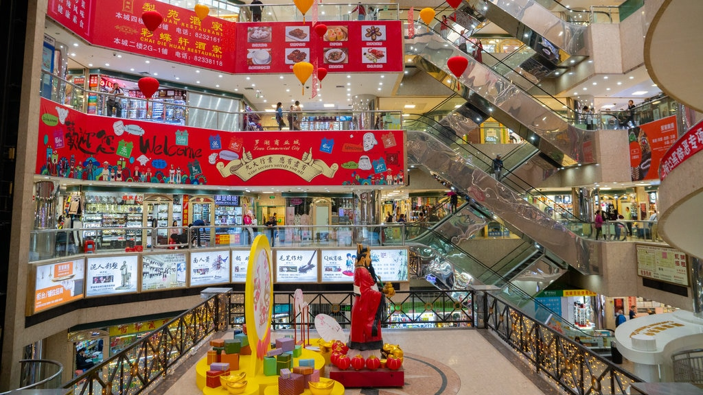 Shenzhen showing shopping and interior views
