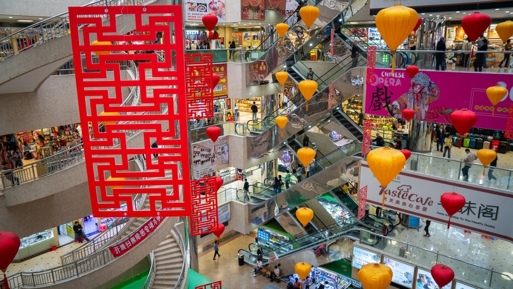 Shenzhen which includes shopping and interior views
