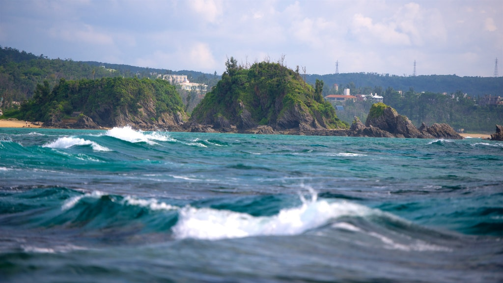 North Okinawa which includes waves and general coastal views