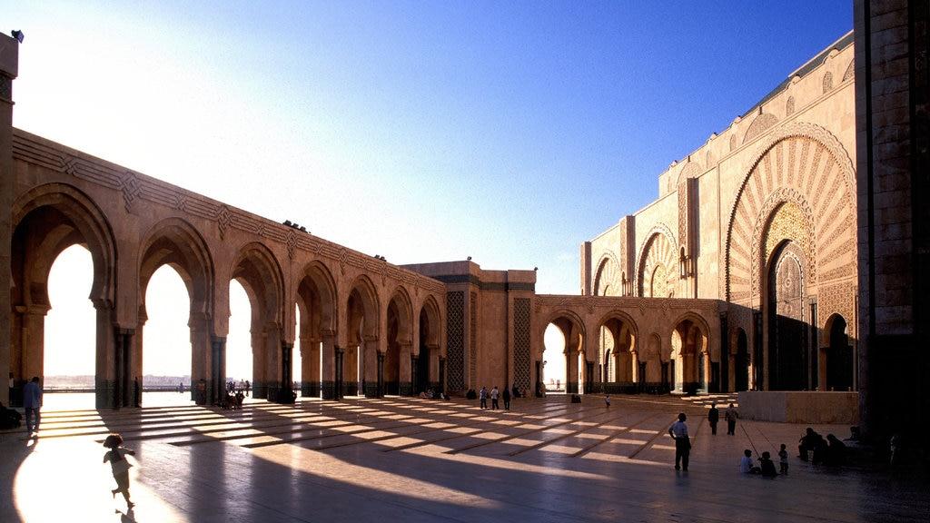 Mezquita Hassan II mostrando elementos del patrimonio