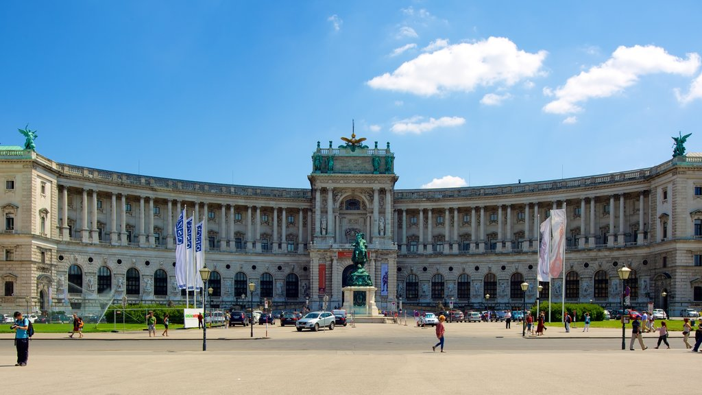 Hofburg Imperial Palace featuring a square or plaza, heritage elements and heritage architecture
