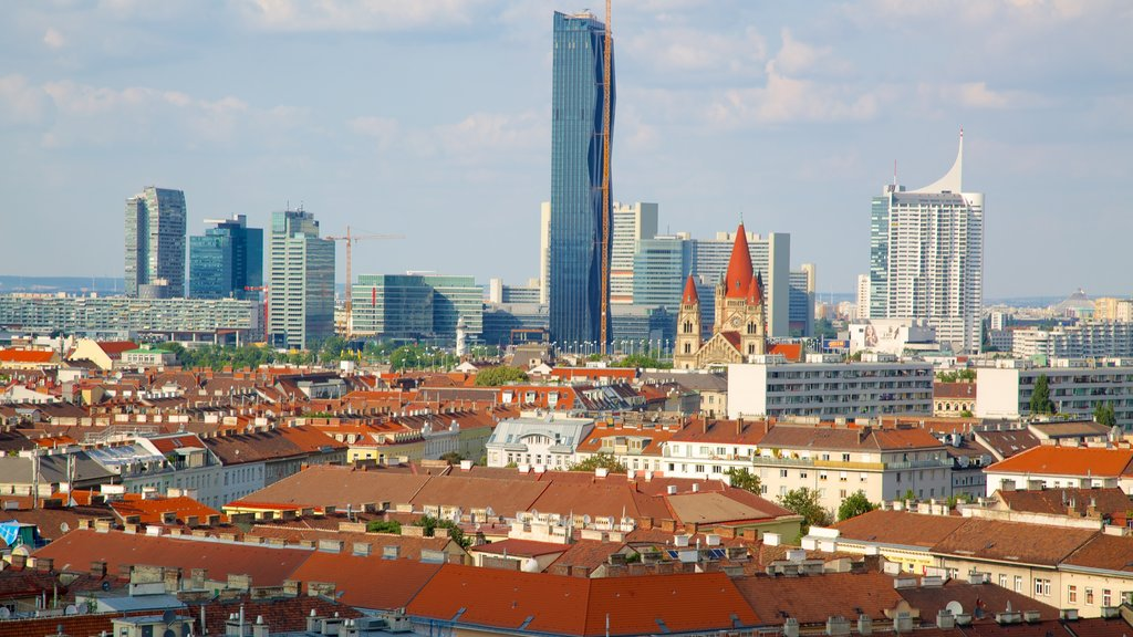 Wiener Prater featuring central business district, a city and a skyscraper