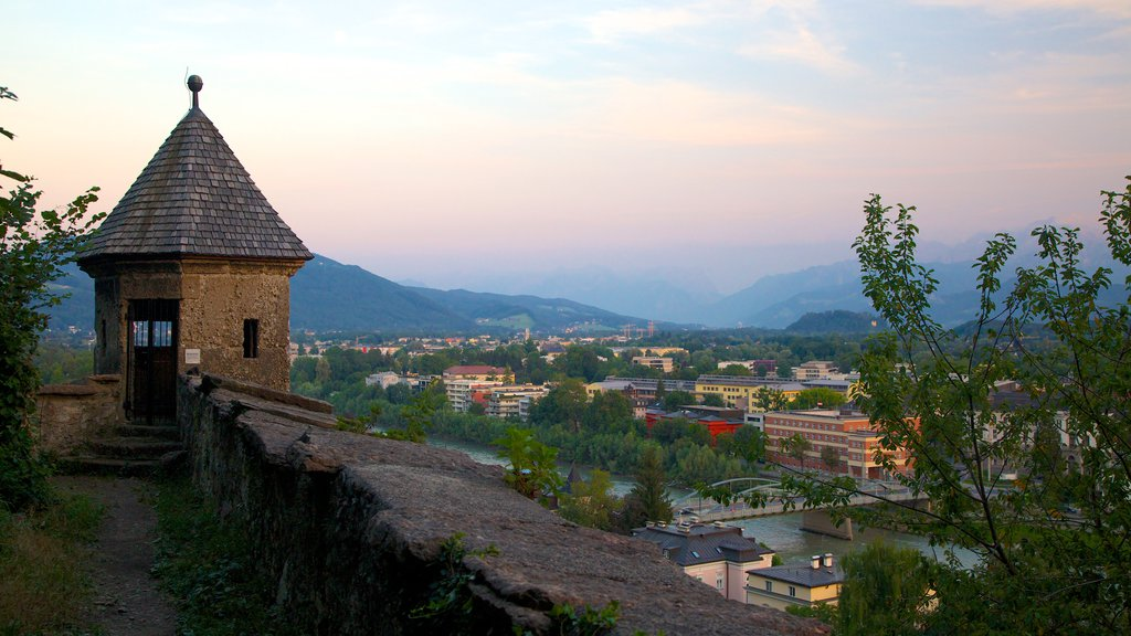 Kapuzinerberg featuring heritage architecture, landscape views and views