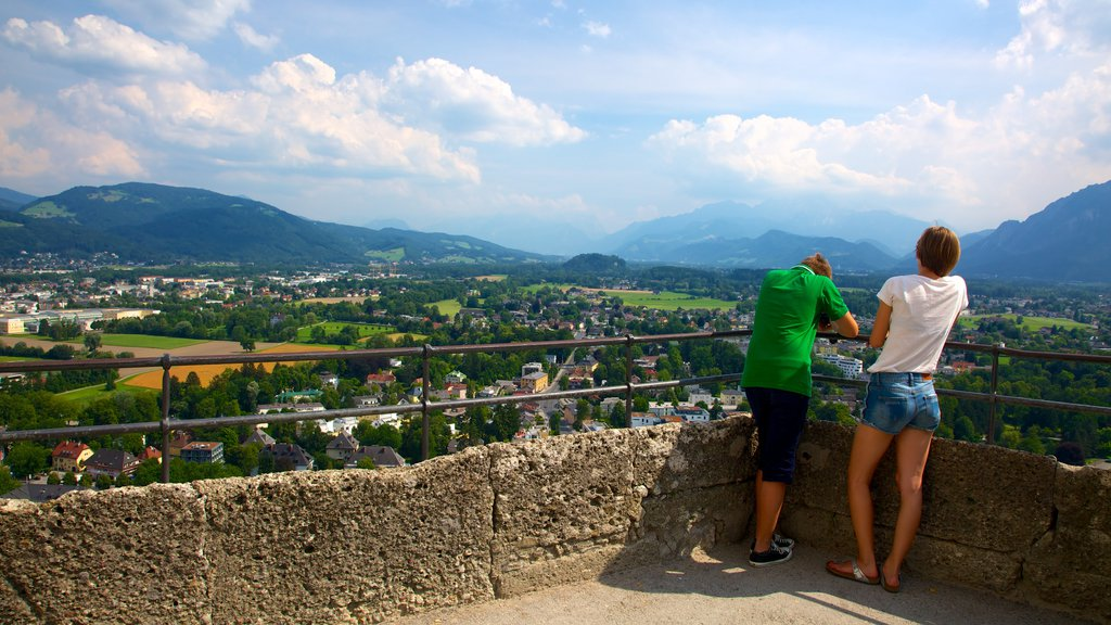 Festung Hohensalzburg showing landscape views, chateau or palace and views
