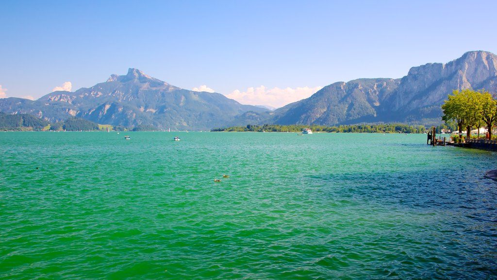 Mondsee featuring landscape views, mountains and a lake or waterhole