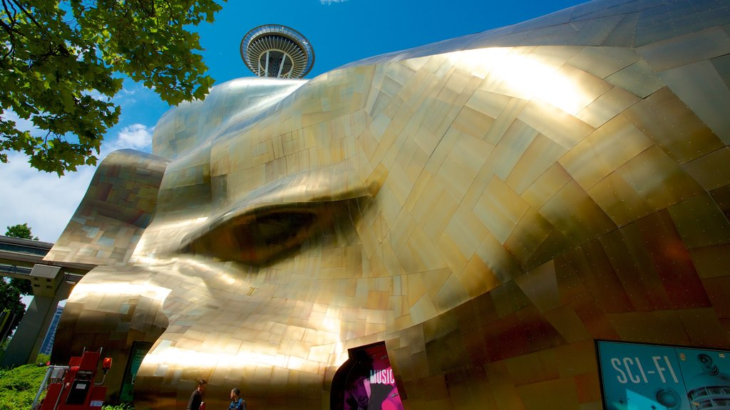 Seattle Center which includes modern architecture