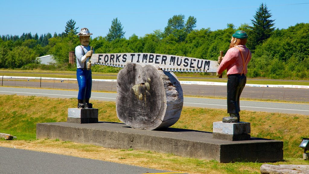 Forks which includes signage