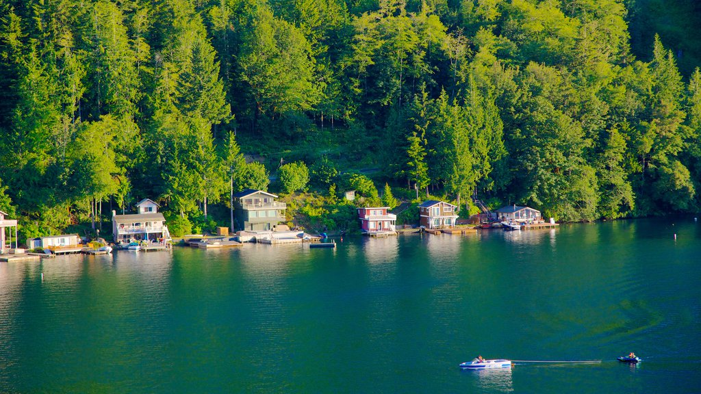 Olympic National Park featuring general coastal views, boating and a coastal town