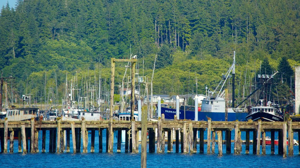 Neah Bay featuring a marina, boating and a bay or harbor