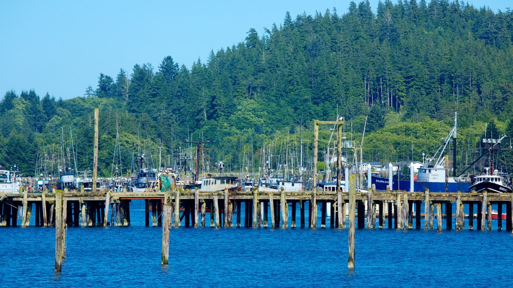 Neah Bay featuring boating, a bay or harbor and a marina