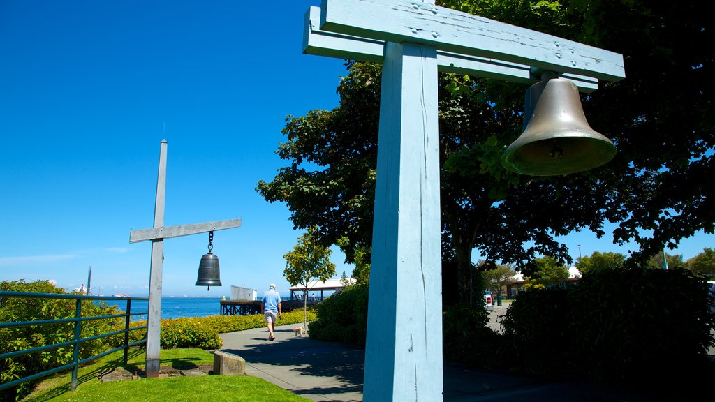 Port Angeles featuring hiking or walking and heritage elements as well as an individual male