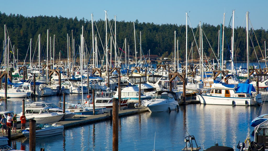 San Juan Island featuring boating, sailing and a bay or harbor
