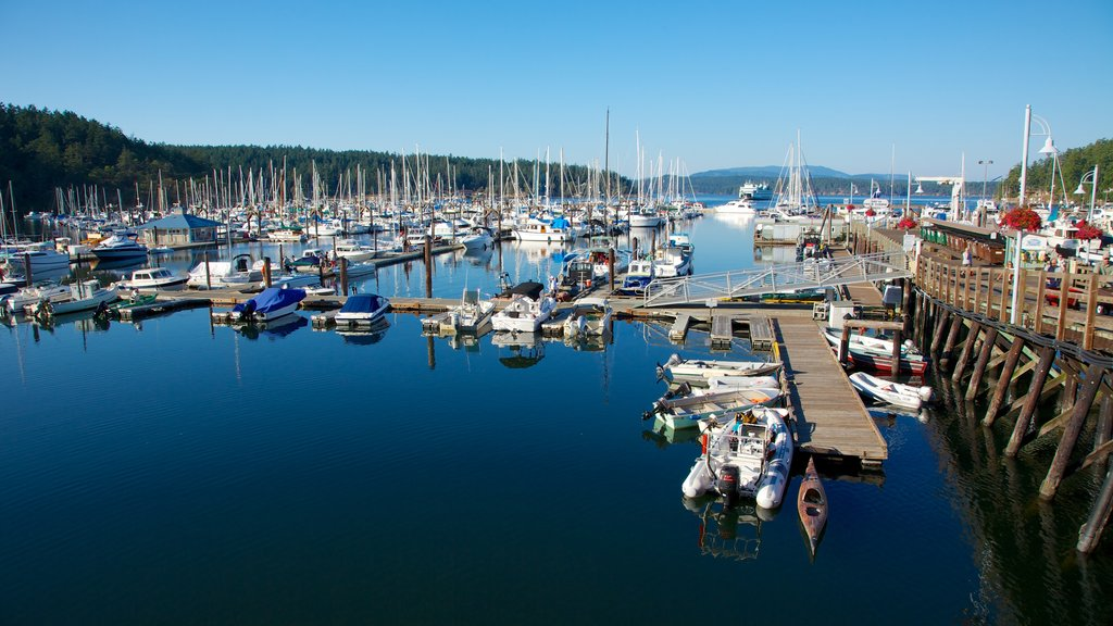 San Juan Island featuring a marina, boating and sailing