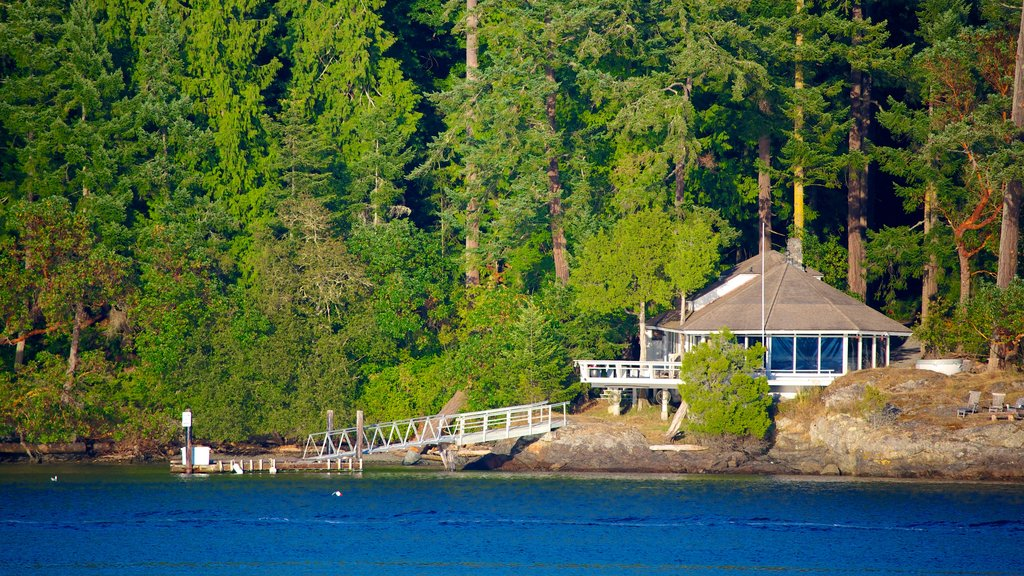San Juan Island which includes a house and a lake or waterhole