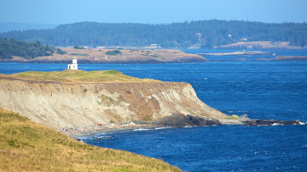 San Juan Island which includes general coastal views, landscape views and a lighthouse