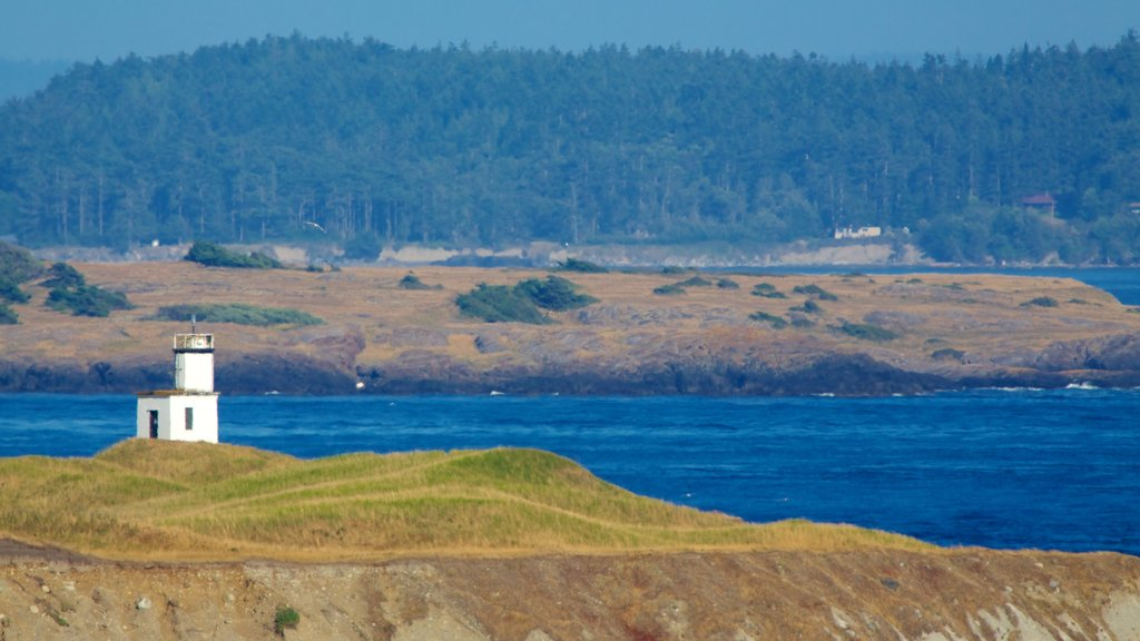 San Juan Island featuring island images, landscape views and a lighthouse