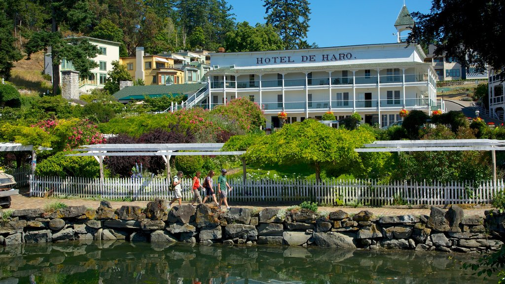 San Juan Island featuring a lake or waterhole, a coastal town and a hotel