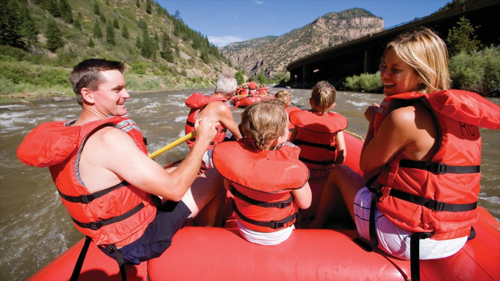 Glenwood Springs which includes a river or creek, rapids and rafting