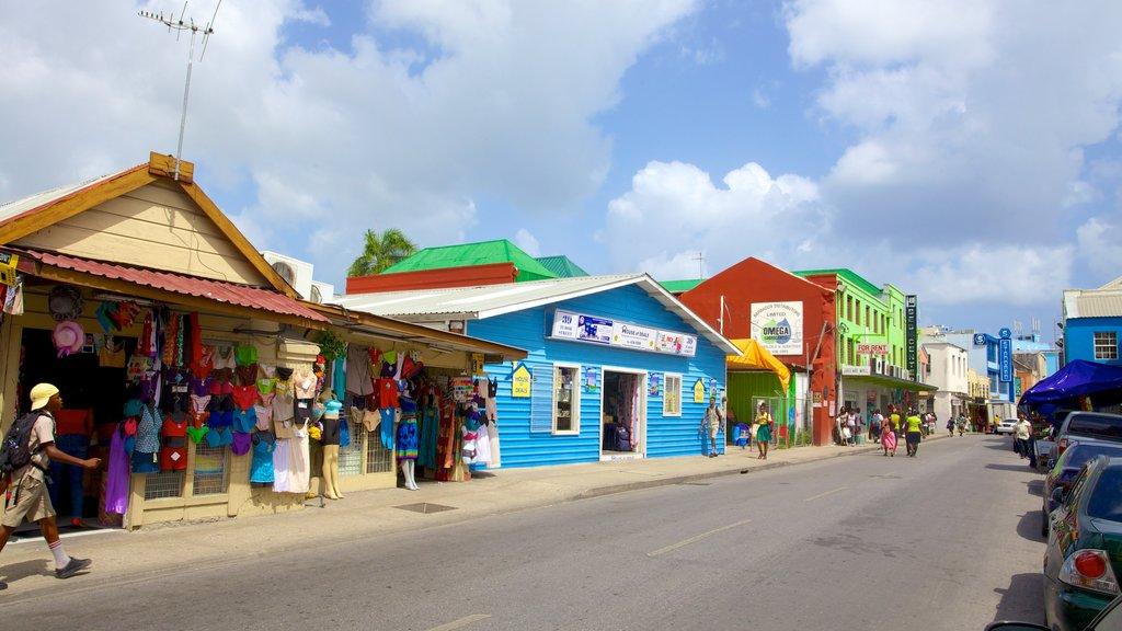 Bridgetown showing street scenes