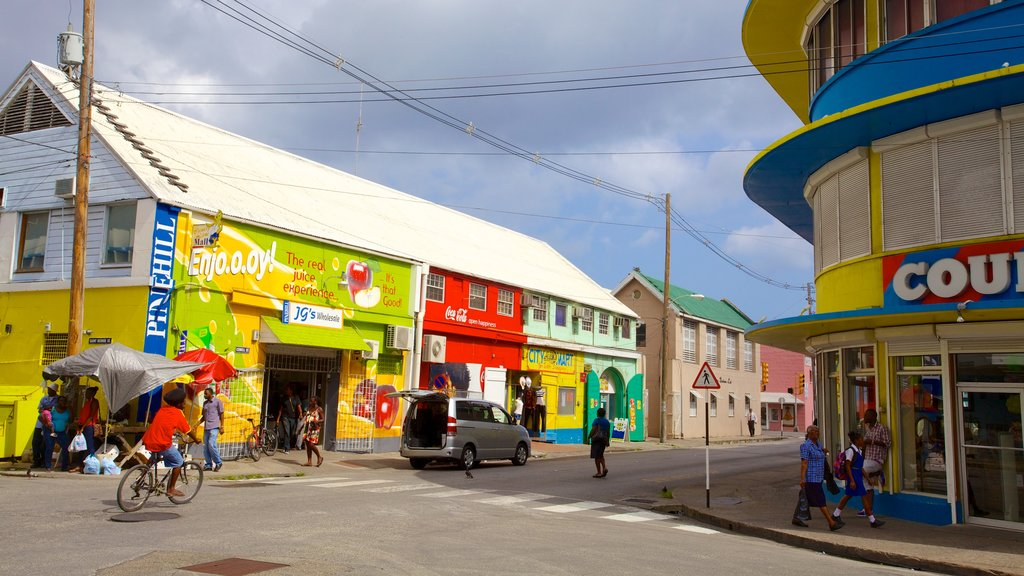 Bridgetown featuring street scenes, a small town or village and cycling