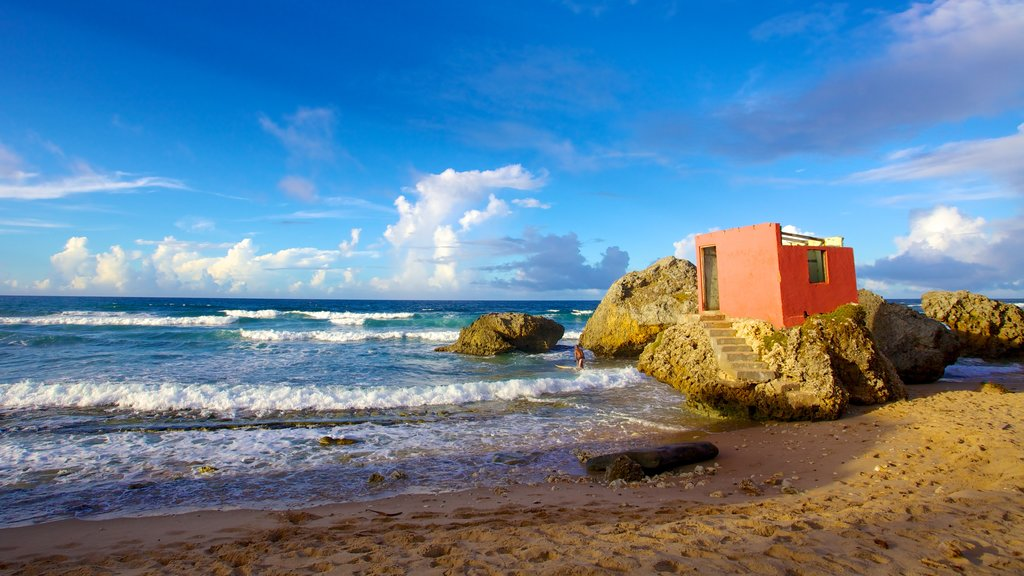 Bathsheba which includes general coastal views and a beach