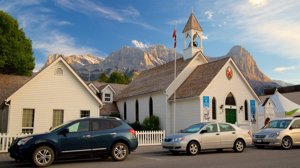 Canmore which includes a church or cathedral