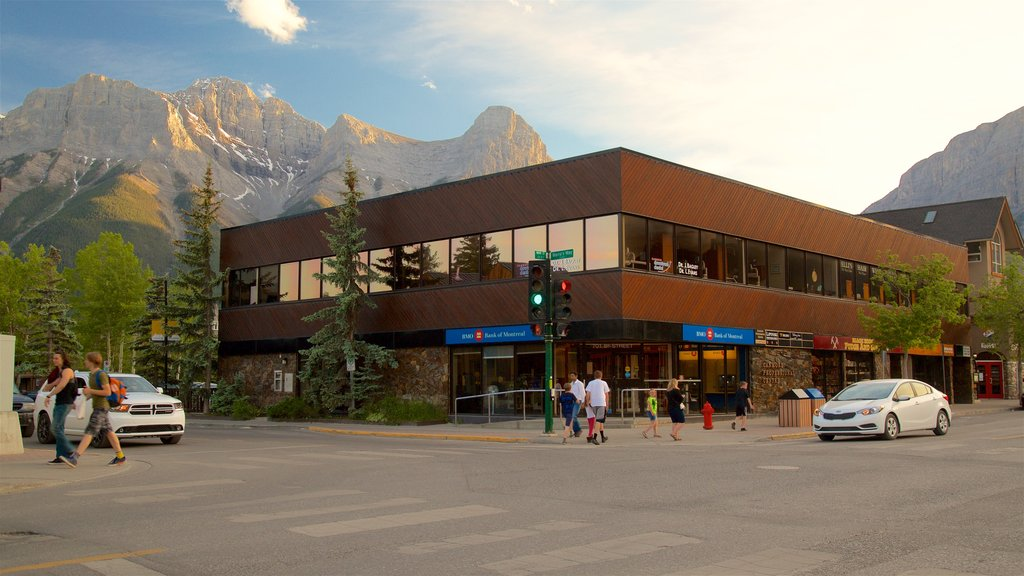 Canmore which includes a sunset