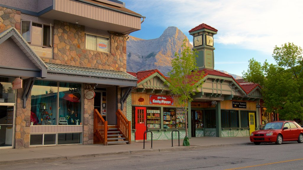 Canmore which includes a small town or village