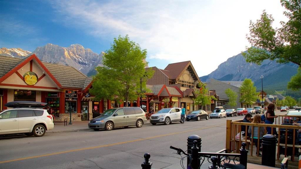 Canmore featuring a small town or village
