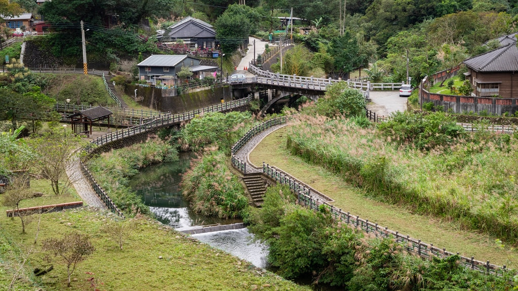 Pingxi District featuring a small town or village, a river or creek and landscape views