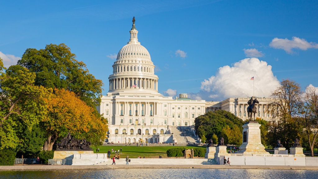 United States Capitol showing an administrative buidling and heritage architecture