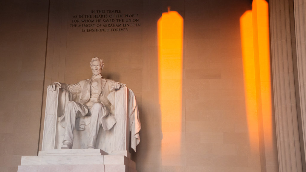 Lincoln Memorial showing interior views and an administrative buidling