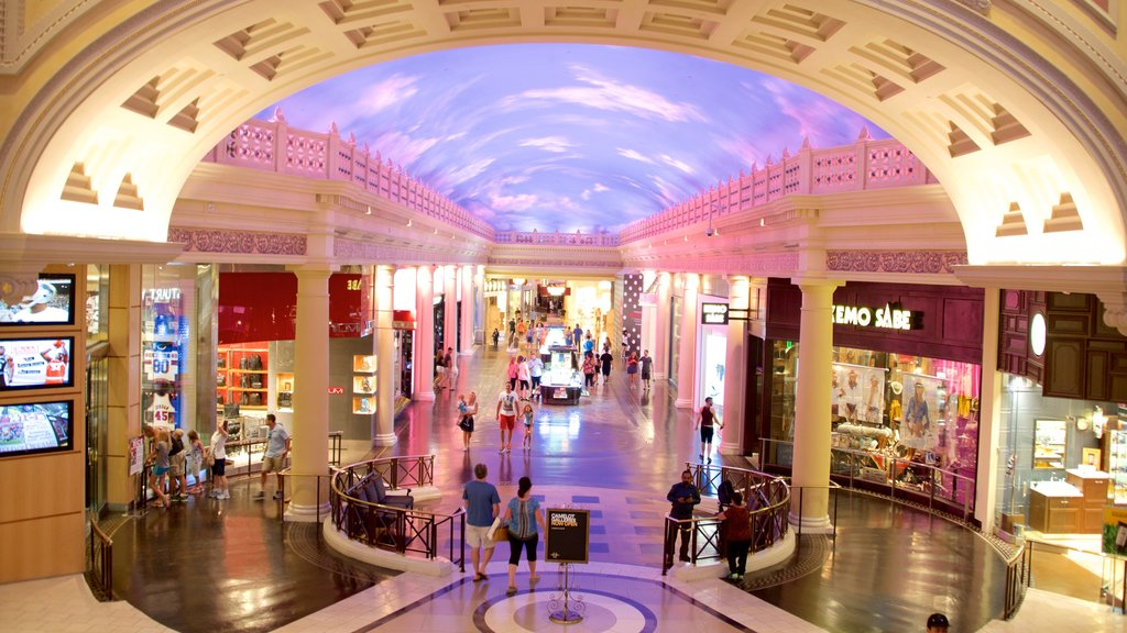 The Strip showing shopping and interior views