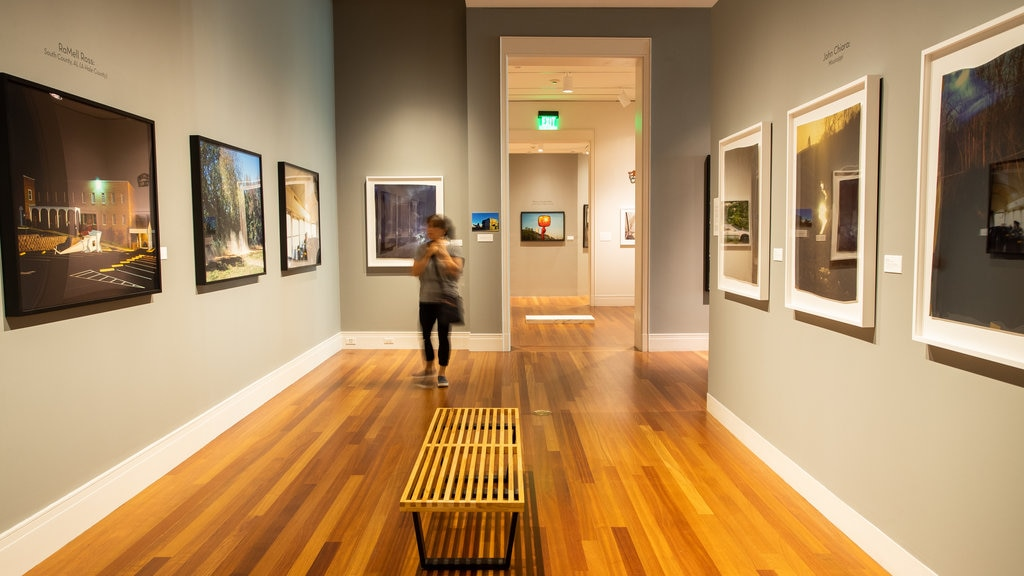 Ogden Museum of Southern Art which includes art and interior views