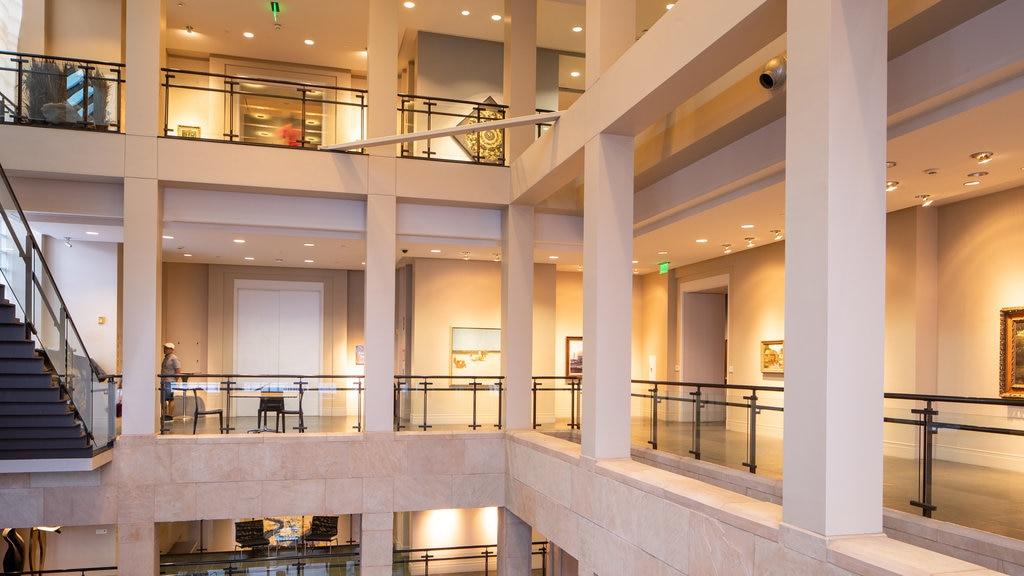 Ogden Museum of Southern Art featuring interior views