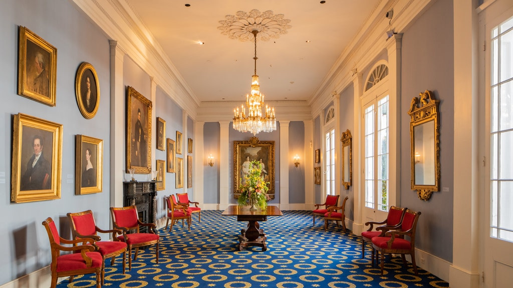 Historic New Orleans Collection showing interior views, heritage elements and art