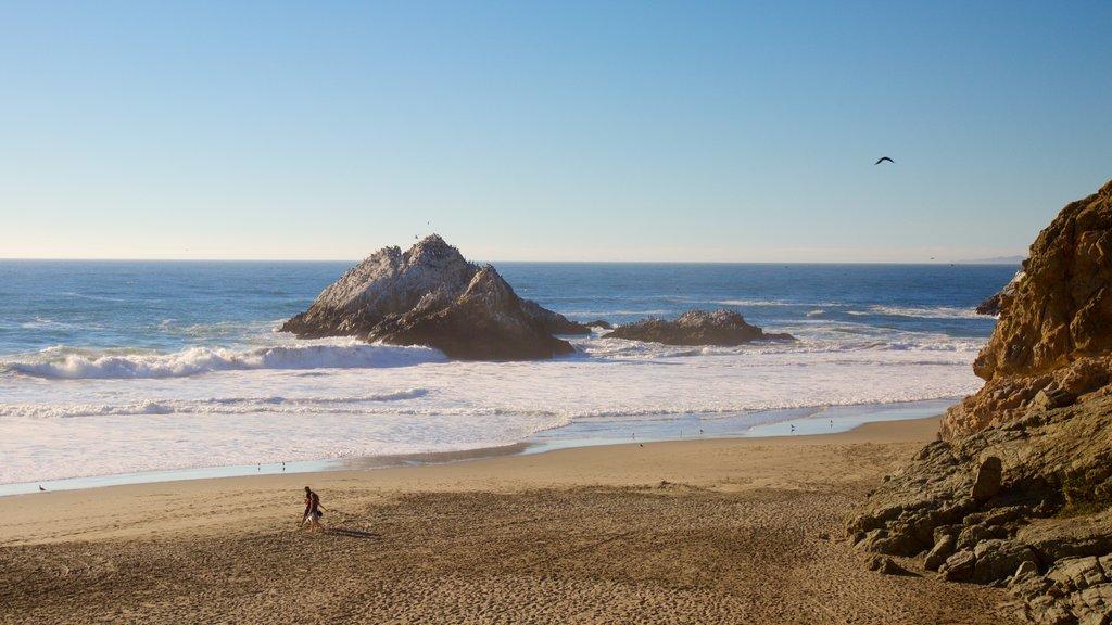 Ocean Beach featuring island views, a sandy beach and general coastal views