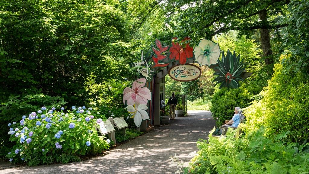 Everett Children\'s Adventure Garden which includes wildflowers and a park