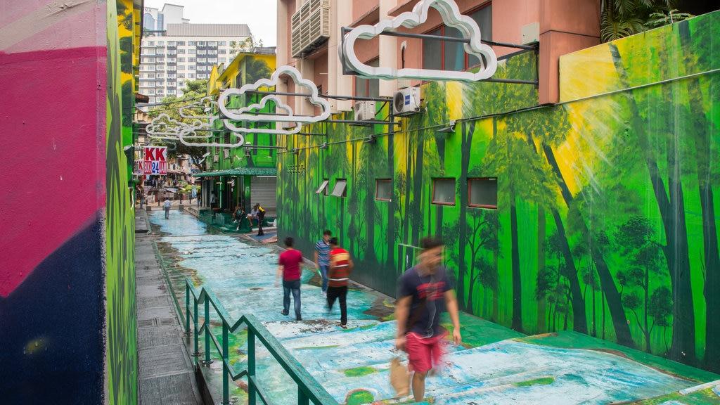 Kuala Lumpur showing outdoor art and street scenes
