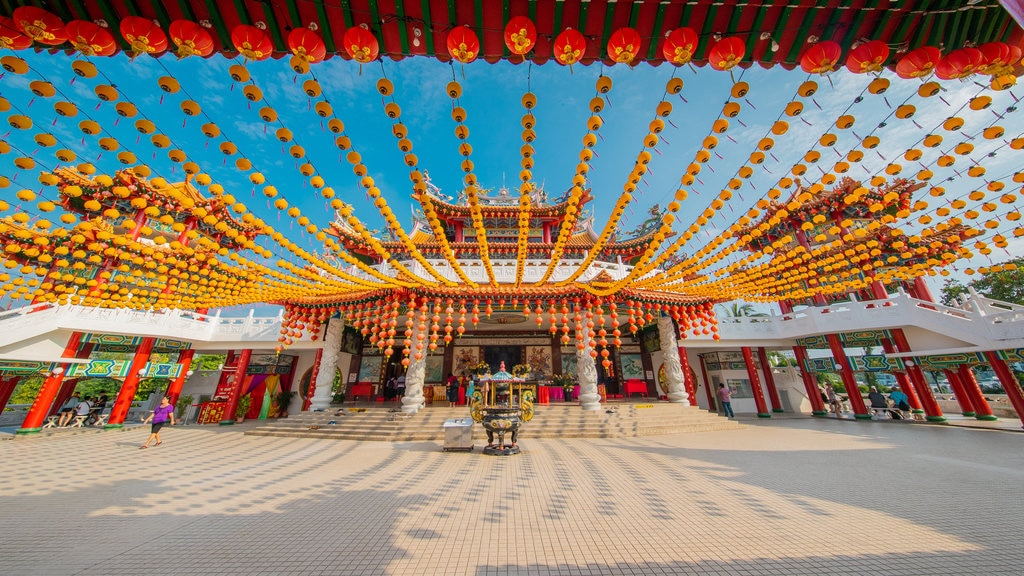 Thean Hou Temple featuring a square or plaza and heritage elements