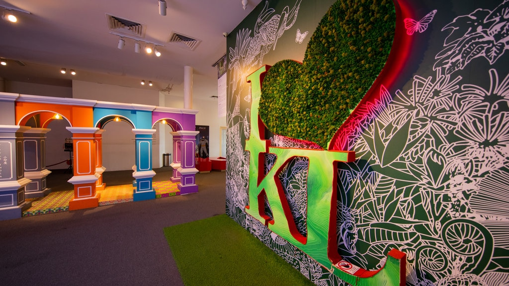Kuala Lumpur City Gallery showing art and interior views