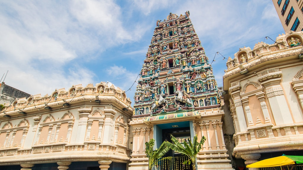 Sri Maha Mariamman Temple showing heritage architecture