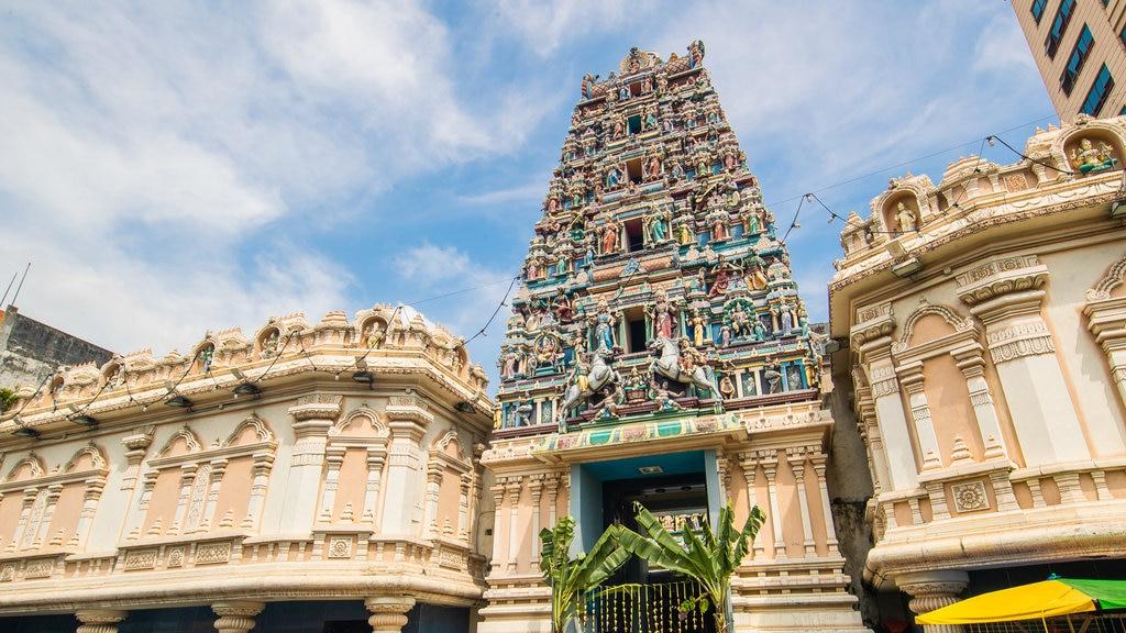 Templo Sri Maha Mariamman ofreciendo patrimonio de arquitectura